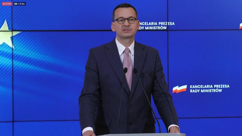 19.08.2020, konferencja prasowa premiera Mateusza Morawieckiego.