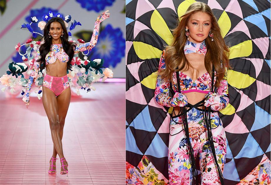 Projekty Mary Katrantzou dla Victoria's Secret prezentowała m.in. Gigi Hadid
