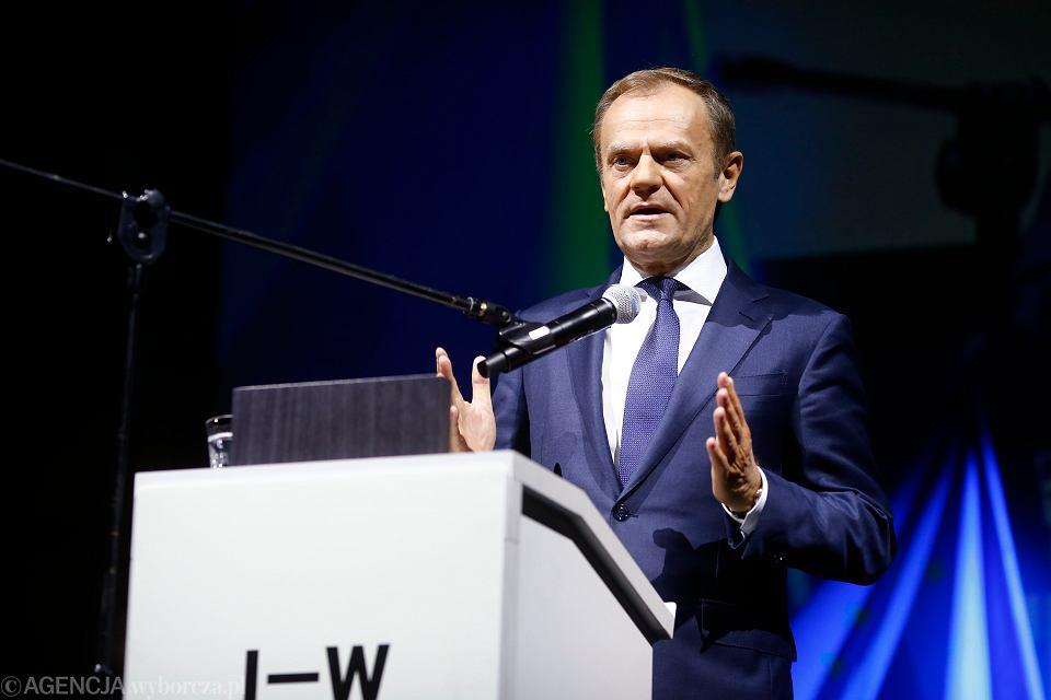 Donald Tusk podczas V edycji Igrzysk Wolności, Łódź 10.11.2018.