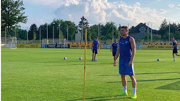 Łukasz Piszczek na treningu w Goczałkowicach