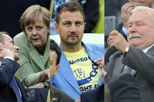 Donald Tusk, Angela Merkel, Jerzy Dudek, Lech Wałęsa