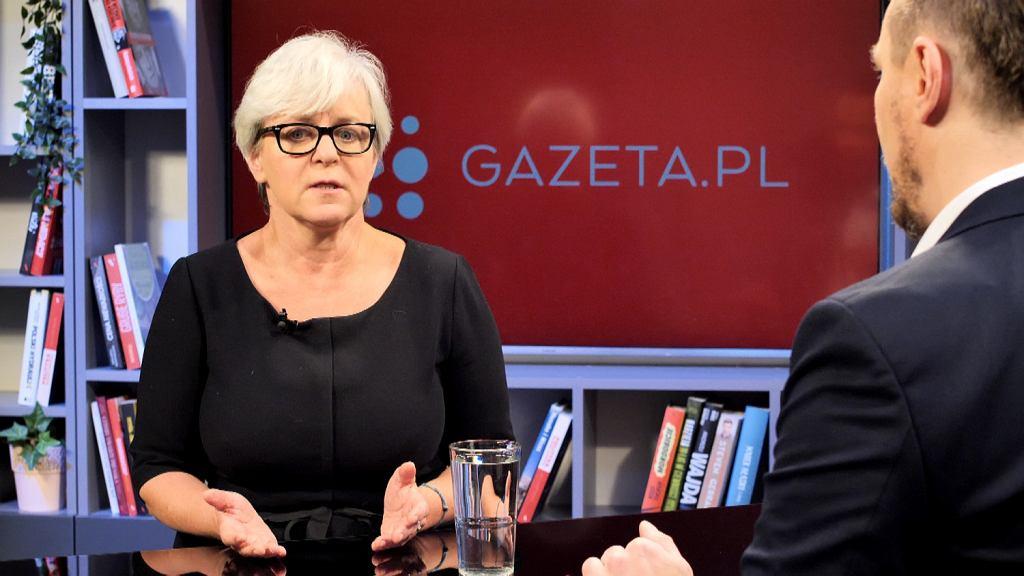Joanna Kluzik-Rostkowska była gościem porannej rozmowy Gazeta.pl