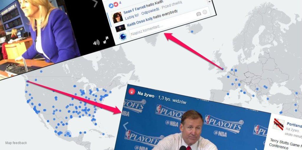 Facebook Live Mapa