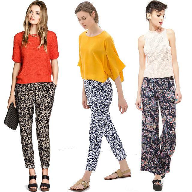 Wzorzyste Spodnie Na Wiosne