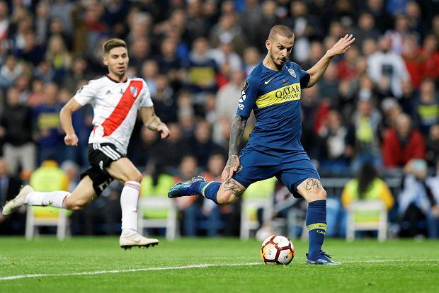 Zdjęcie numer 1 w galerii - River Plate pokonuje Boca Juniors po dogrywce! Bramkarz grający na połowie rywali nie pomógł