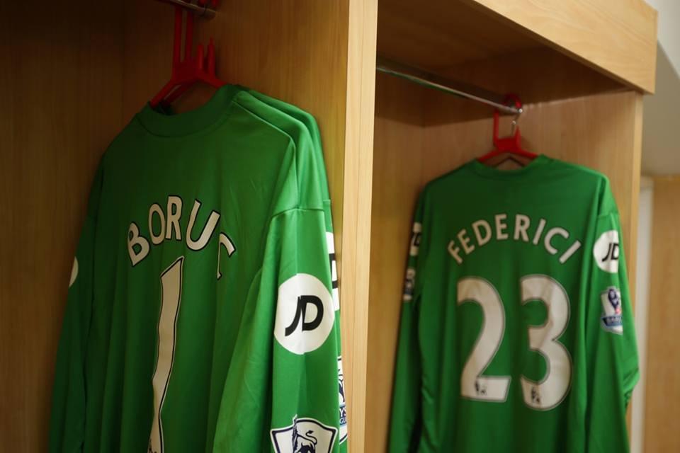 Manchester City - AFC Bournemouth 5:1. Koszulka Artura Boruca w szatni Bournemouth