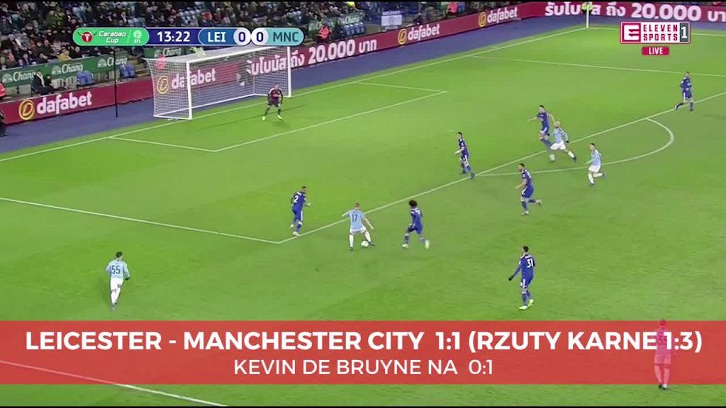 Kevin De Bruyne strzelił pięknego gola w meczu Manchesteru City z Leicester