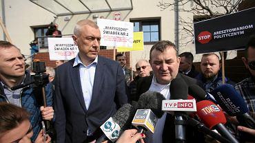 Poseł PO Stanisław Gawłowski i mecenas Roman Giertych w Szczecinie