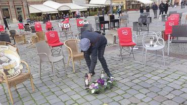 Protest branży gastronomicznej na wrocławskim Rynku