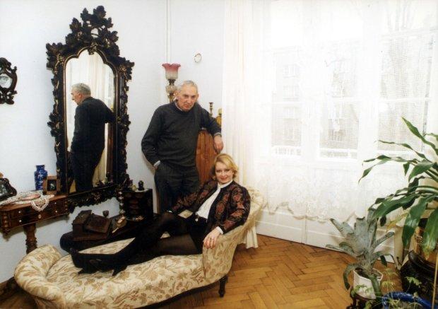 Gustaw Holoubek, żona Magda Zawadzka