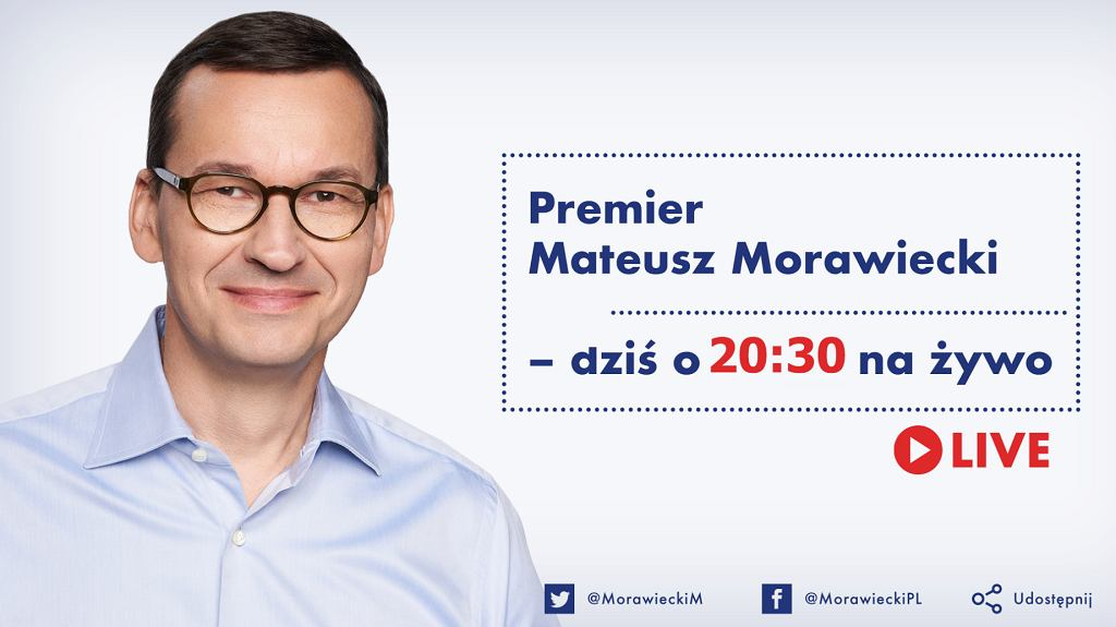 Premier Mateusz Morawiecki odpowie na pytania internautów