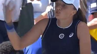 Iga Świątek w meczu z Belindą Bencić w IV rundzie US Open 2021