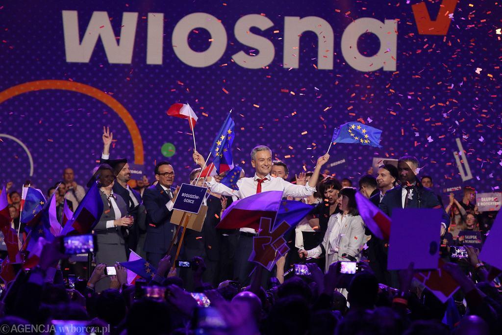 Konwencja partii Roberta Biedronia w Warszawie