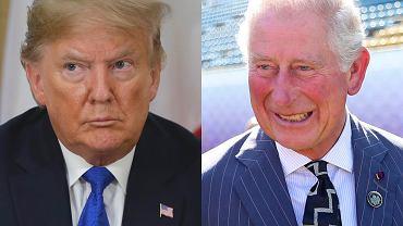 Książę Karol i Donald Trump
