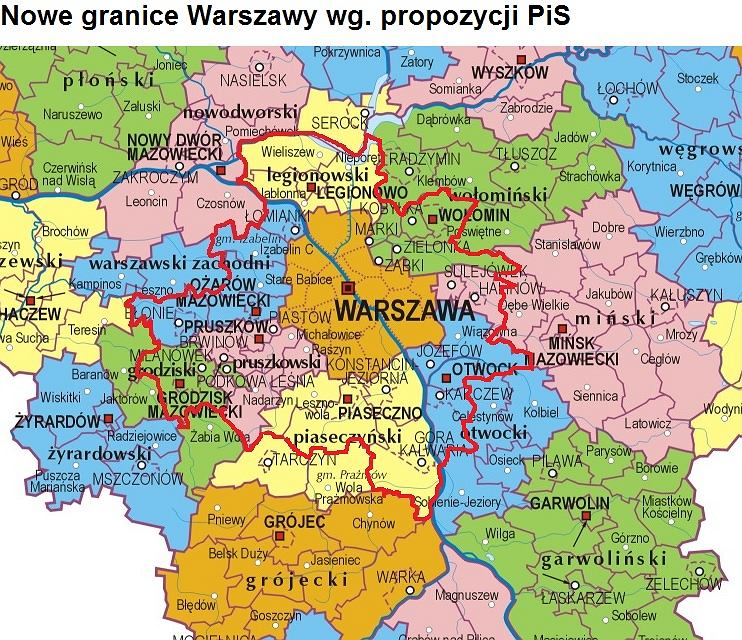 Pis Chce Przylaczyc Do Warszawy Az 32 Okoliczne Gminy