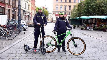 Nowe hulajnogi i rowery Straży Miejskiej Wrocławia