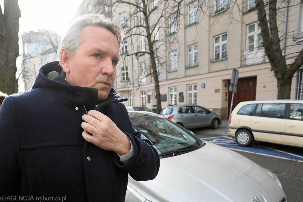 11.02.2019 Warszawa. Gerald Birgfellner w drodze do Prokuratury Okręgowej.
