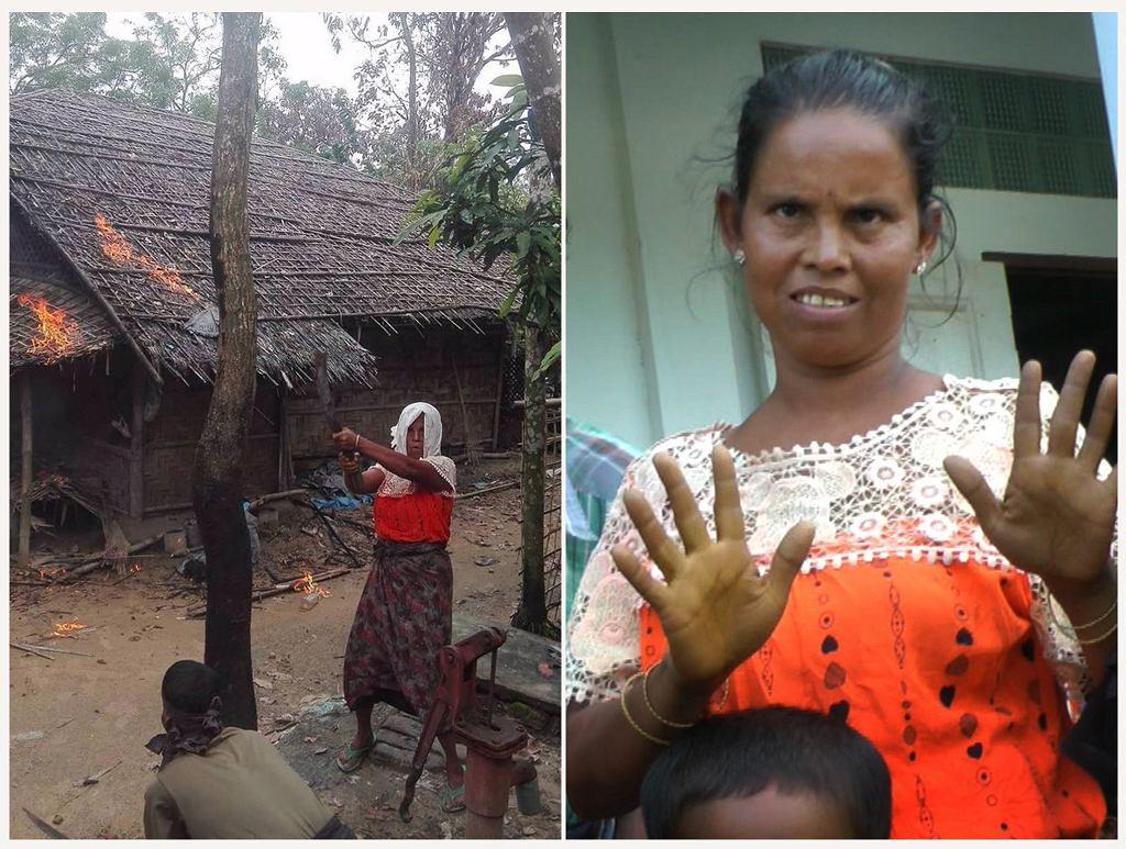 Kobieta, którą władze raz przedstawiały jako palącą domy muzułmankę, a raz jako uciekająca przed tymi samymi muzułmanami hinduskę