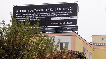 Billboard przy ulicy Madalińskiego w Warszawie