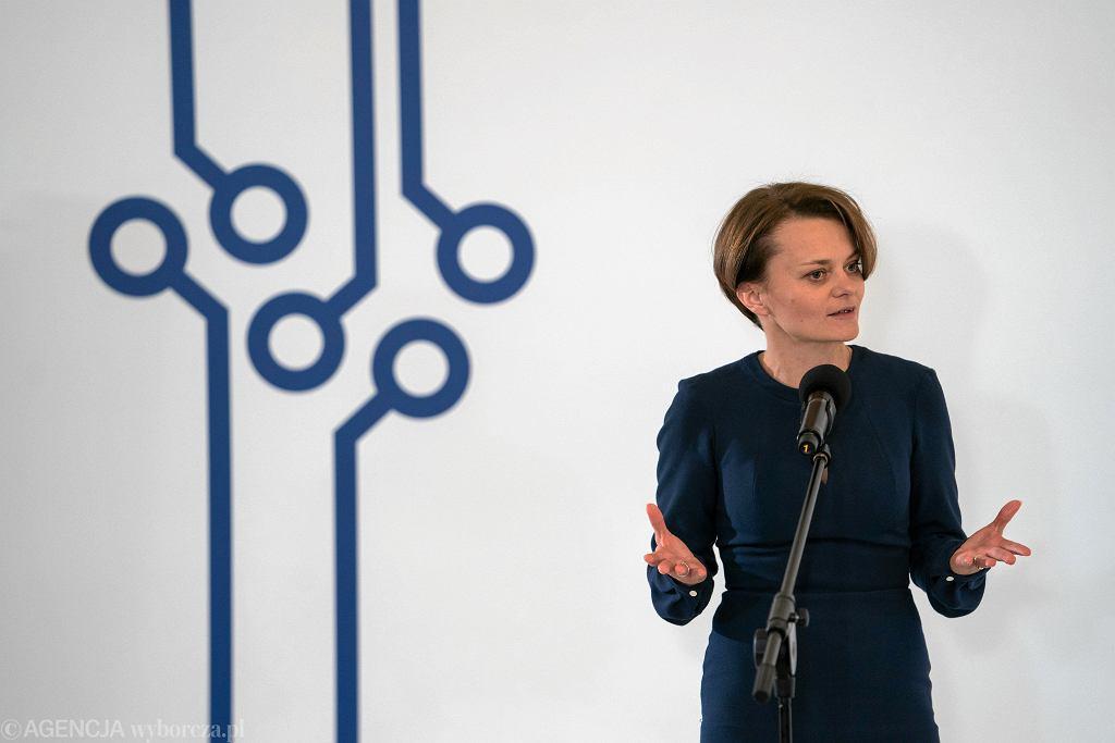 Minister przedsiębiorczości Jadwiga Emilewicz.