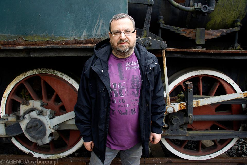 Mieczysław Bonisławski z Klubu Miłośnikow Kolei Szprotawskiej