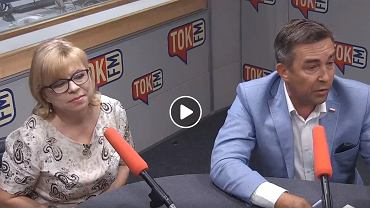 Posłanka Gabriela Lenartowicz (PO) i poseł Zbigniew Gryglas (klub poselski PiS, wcześniej Nowoczesna) w studiu TOK FM.