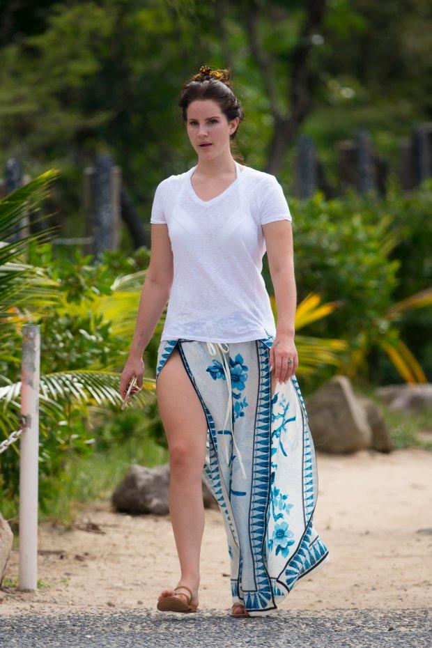 Lana Del Rey and her boyfriend Francesco Carrozzini are enjoying holiday in St Barth  Lana Del Rey;Francesco Carrozzini