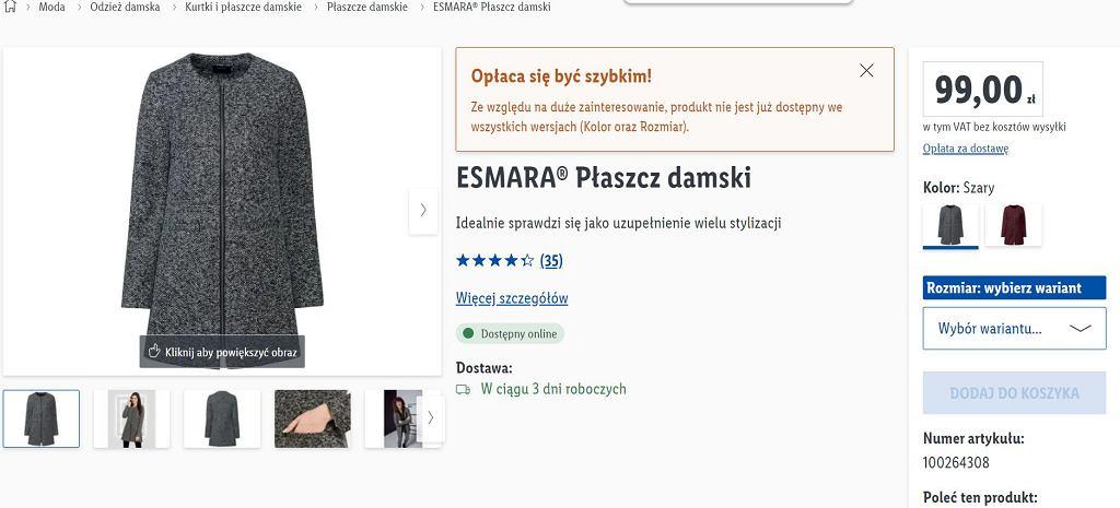 Lidl sprzedaje modne i stylowe płaszcze za mniej niż 60 zł. To hit na ten sezon! Podobne kupicie w sieciówkach za dużo więcej