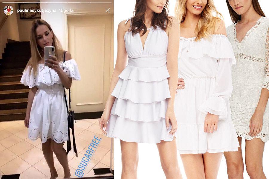 Kolaż, białe sukienki/Materiały partnera