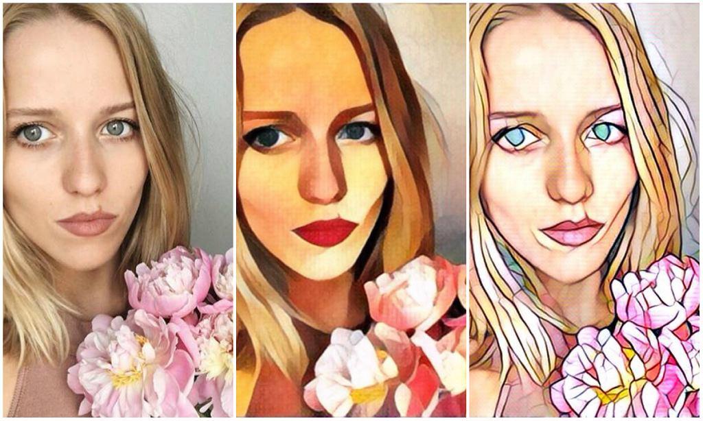 Tak działa Prima: zdjęcie Jessiki Mercedes przepuściliśmy przez dwa różne filtry z aplikacji Prisma. Po lewej oryginał z Instagrama blogerki.