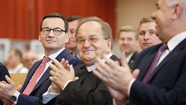 O. Tadeusz Rydzyk i premier Mateusz Morawiecki