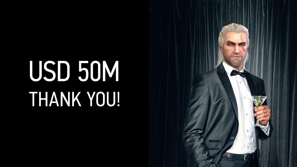 Wiedźmin 3 na Steam zarobił 50 mln dol.