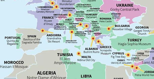Mapa Europy I Azji Panstwa Wszystko O Podrozach