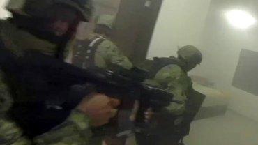 Zrzut ekranu z filmu nagranego podczas akcji