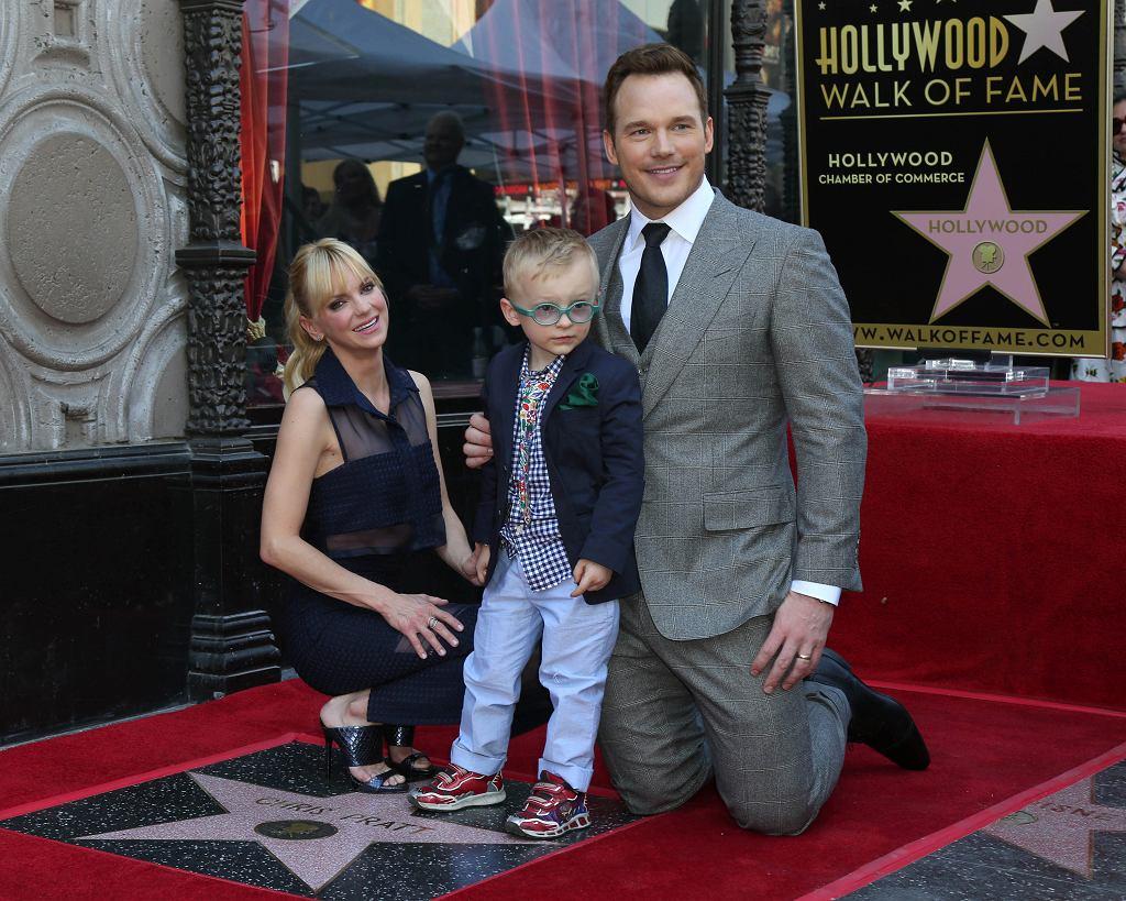 Chris Pratt z byłą żoną Anną Faris i synem Jackiem.