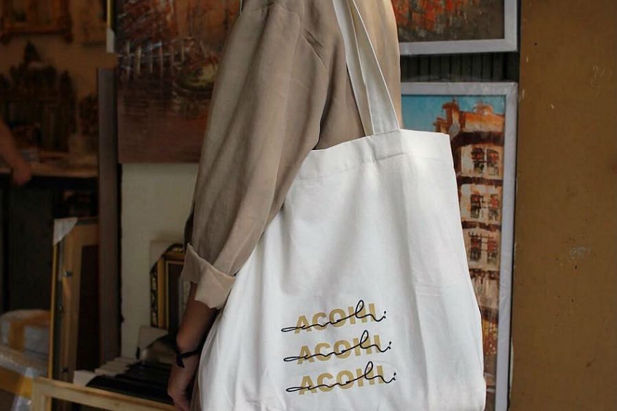 torba z napisem