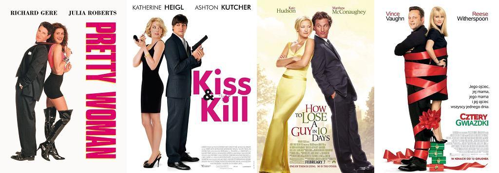 Plakaty (od lewej): Pretty Woman, Pan i pani Kiler, Jak stracić chłopaka w 10 dni, Cztery gwiazdki