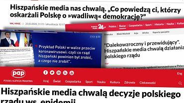 Rzekome 'hiszpańskie media' o Polsce