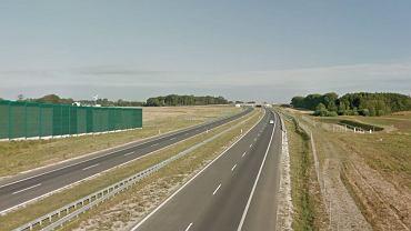 Odcinek autostrady A1 w pobliżu Lubienia Kujawskiego