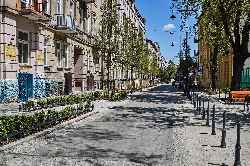 Ulica 1 Maja w Łodzi wyremontowana w stylu woonerf