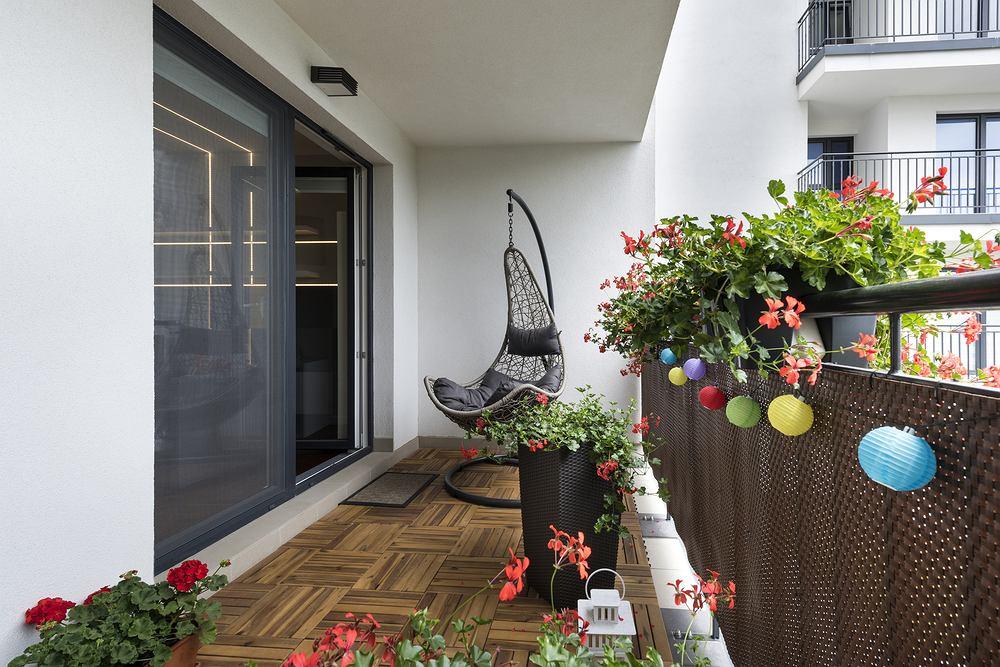 Kwiaty na balkon. Zdjęcie ilustracyjne