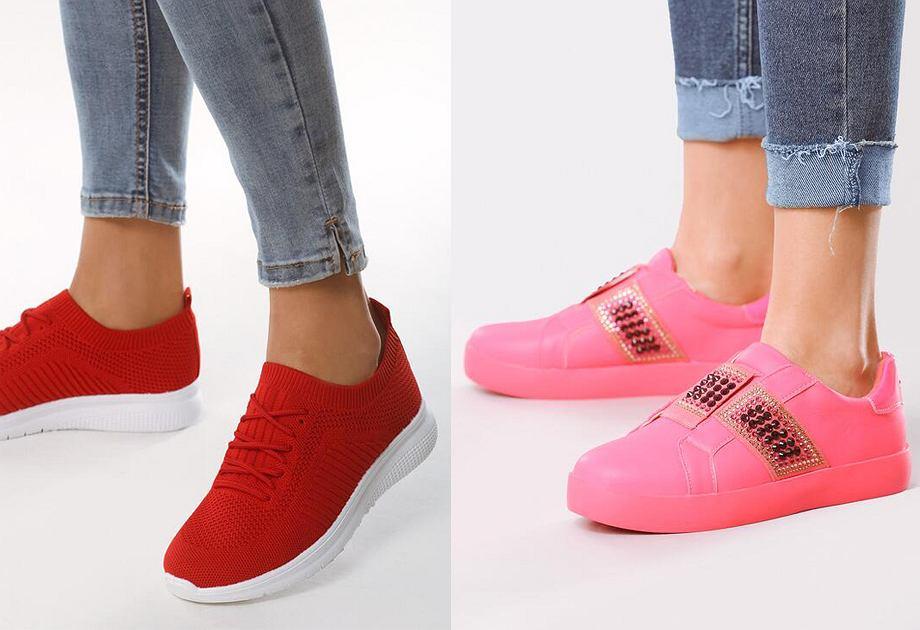 Sneakersy w odważnych kolorach