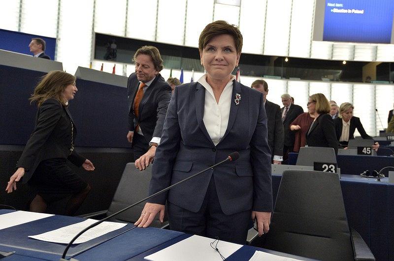 Premier Beata Szydło w Parlamencie Europejskim, 19.01.2016