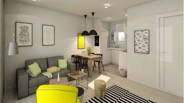 Ciepłe wnętrze - czyli kolor żółty w Twoim mieszkaniu