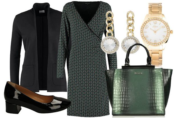 Elegancka stylizacja z sukienką