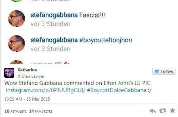 Steffano Gabbana o Eltonie Johnie