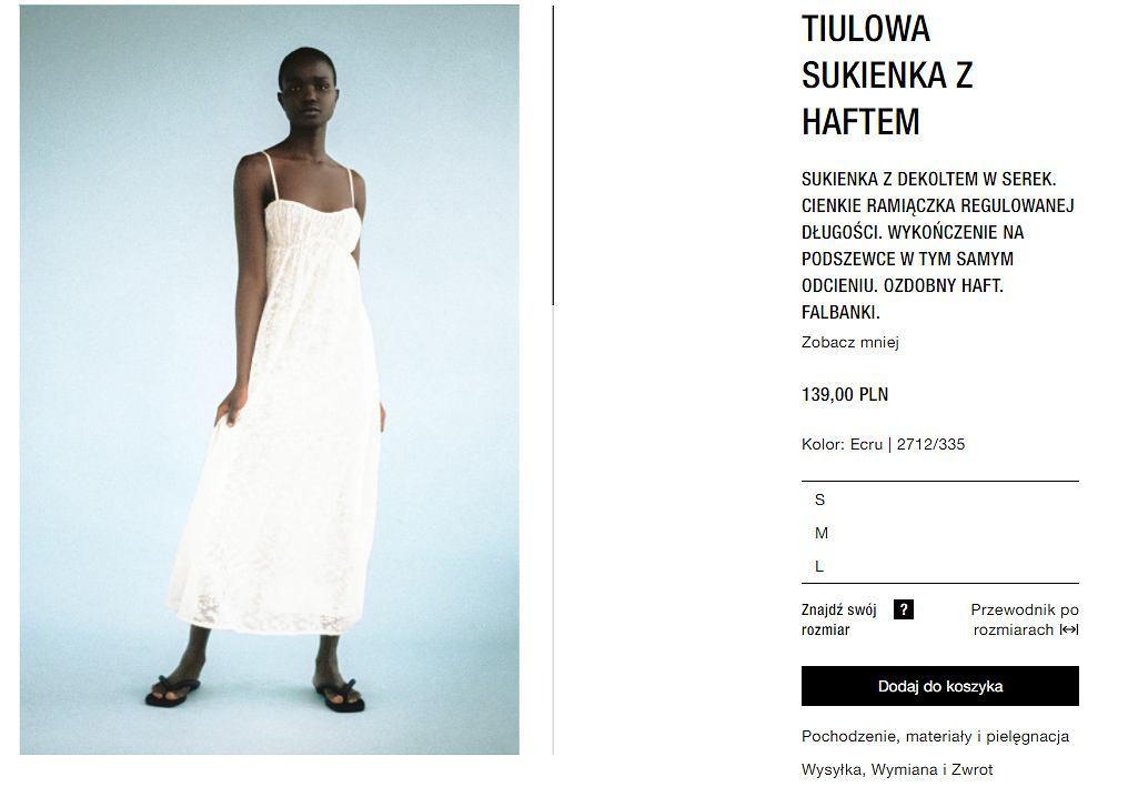 tiulowa sukienka Zara