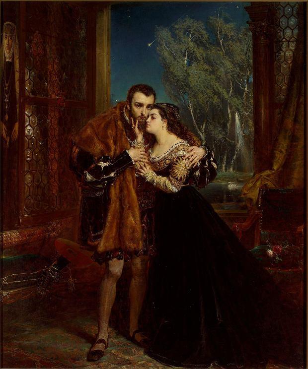 Obraz Jana Matejki 'Zygmunt August i Barbara'