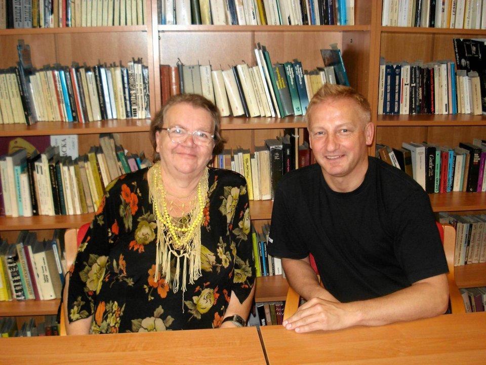 Wanda Gołębiewska i Leszek Skierski, który poświęcił jej dwie książki