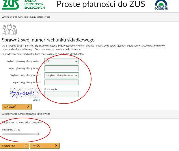 Weryfikacja numeru konta w ZUS